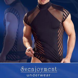 elastisches Stehkragen-Shirt