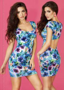 Florales Kleid in blau von Chilirose