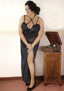 Langes Kleid bis Größe 54 / 56