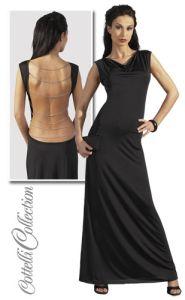 Langes rückenfreies Kleid