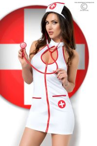 fünfteiliges Krankenschwester-Set für Rollenspiele und als Gogo-Outfit