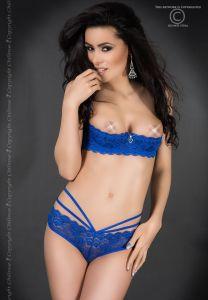 BH + Panties Spitzen-Set blau