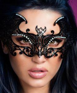 Maske mit Kristallen aus Messing