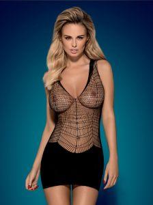 Partykleid mit grobmaschigem Netzmaterial für den Swingerclub