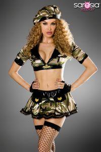 Army-Kostüm für Gogo und Rollenspiel