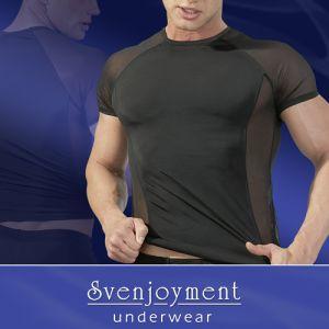 Trend-Shirt mit effektvollen Transparent-Einsätzen