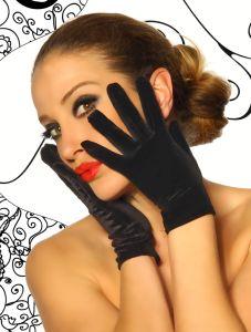 kurze Samt-Handschuhe