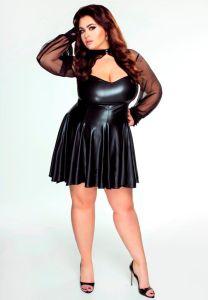 Wetlook Kleid mit Bolero bis Größe 60