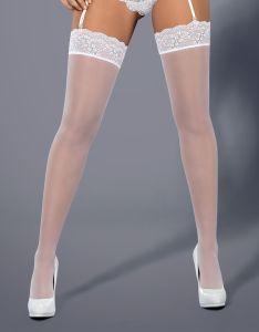 weiße Strümpfe mit schöner Spitze
