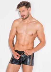 Boxershorts aus WetLook mit Zipper und Netzstreifen