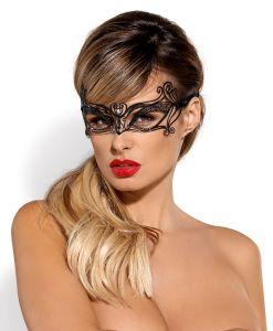 Maske aus fein profiliertem Metall mit einem Zirkondetail
