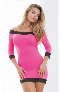 Chemise in pink/black von Dreamgirl