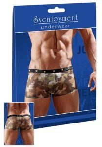 Pants aus transparent-elastischem Powernet mit Military-Print