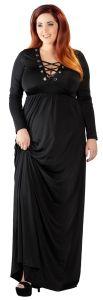 Langes Kleid mit Schnürung bis Größe 4 XL / 62