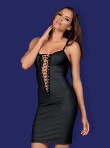 Schwarzes Minikleid mit Schlitz von Obsessive