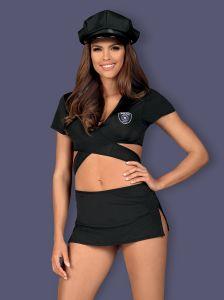 Polizei-Kostüm aus elastischem Multistretch-Material
