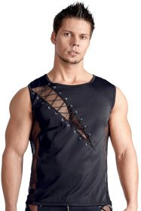 Shirt mit effektvoller Schnürung