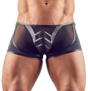 Halbtransparente Pants mit Mattlook-Details