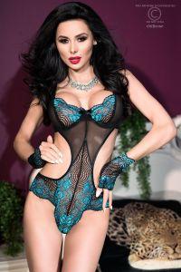Sexy Body in schwarz/blau von Chilirose