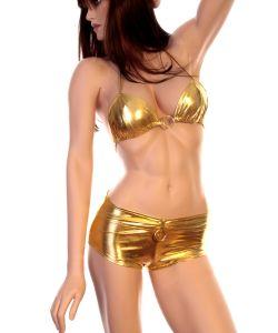 goldener Panty / Bikini