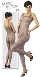 Catsuit aus Duo-Color-Netz