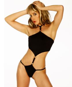 Trendy Monokini in Schwarz
