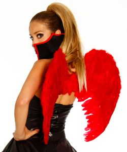 Amor-Flügel in Rot