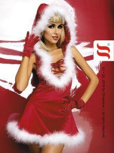 Weihnachtskostüm Santa Lady