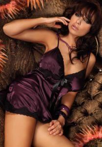 sexy Neglige in Violett