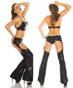 GoGo Chaps-Set im Wetlook