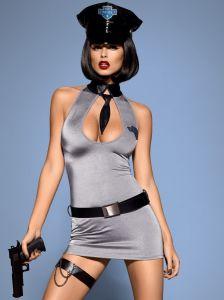 Polizei Kostüm Minikleid