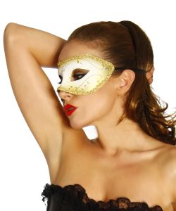 Karneval Maske Gold